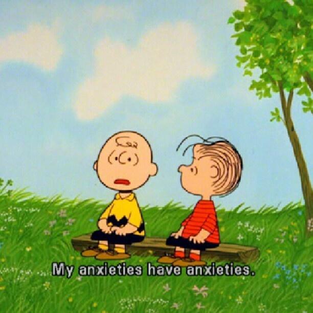 my anxieties have anxieties | Snoopy and Charlie Brown ...