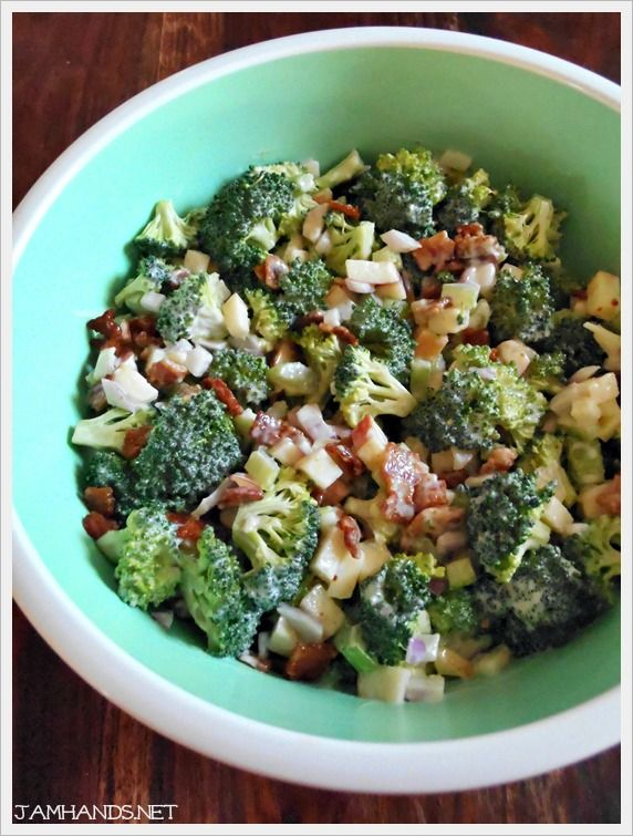 For this Broccoli Salad I was trying to recreate a side dish my sister-in-law brings to a lot of our parties. A lot of broccoli salads...