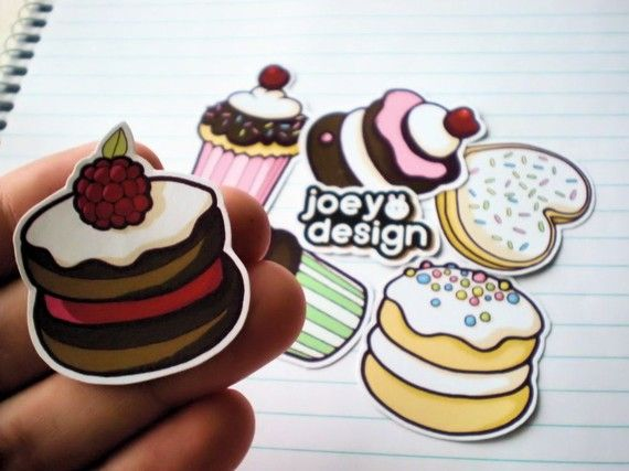 Sweet dessert sticker pack