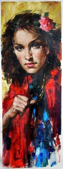 Andrew Atroshenko - Summer Night - Oil on Canvas Original Painting