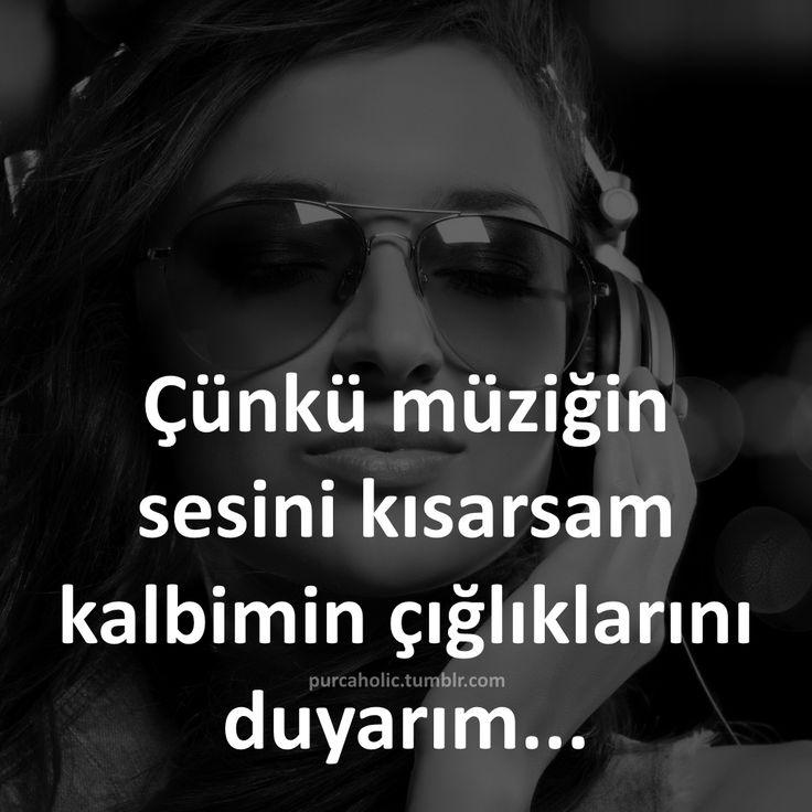 Çünkü müziğin sesini kısarsam kalbimin çığlıklarını duyarım... #müzik #ilaç…