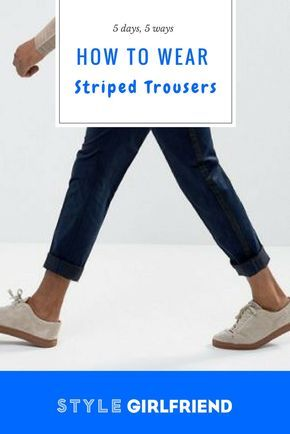 Check out how to wear striped trousers five different ways at stylegirlfriend.com | striped trousers mens, striped trousers mens fashion, striped trousers mens pants, wool, street styles, striped pants vertical, striped pants outfit work