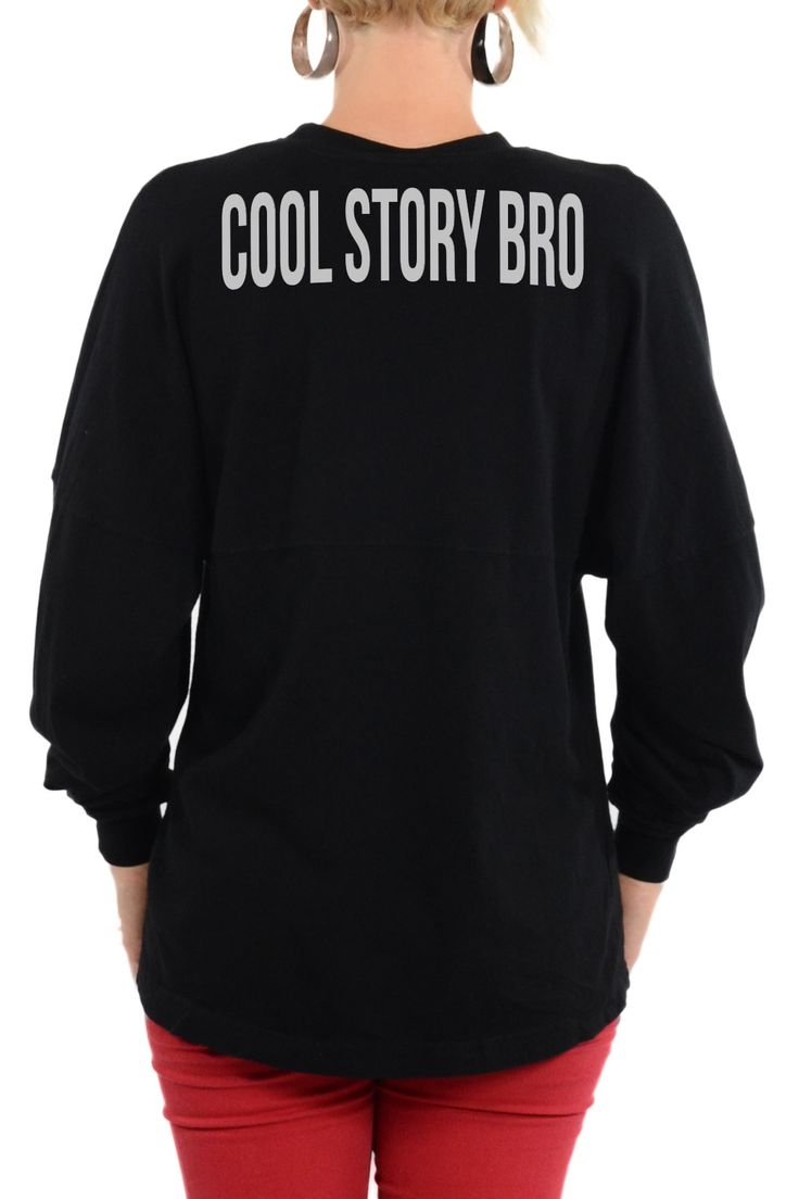 Cool story bro shirt long sleeve football tee products for Cool football t shirts
