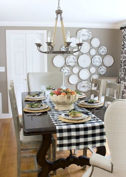 20+ Best Pictures Dining Room Wall Decor Ideas & Designs - Dining Room Wall Decor With Ceramic Plates Ideas