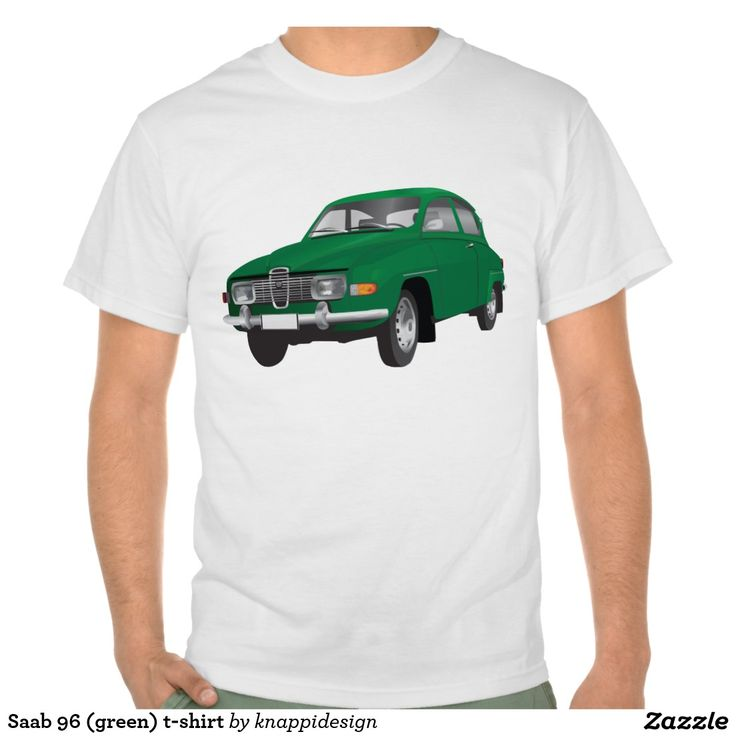 Saab 96 (green) t-shirt  #saab #saab96 #automobiles #automobile #tshirt #tshirts #bilar #car #tröja #skjorta #tpaita #sweden #svenska #sverige #swedish