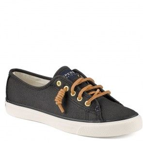 STS90555 Sperry Women's Seacoast Canvas Sneaker - Black www.bootbay.com