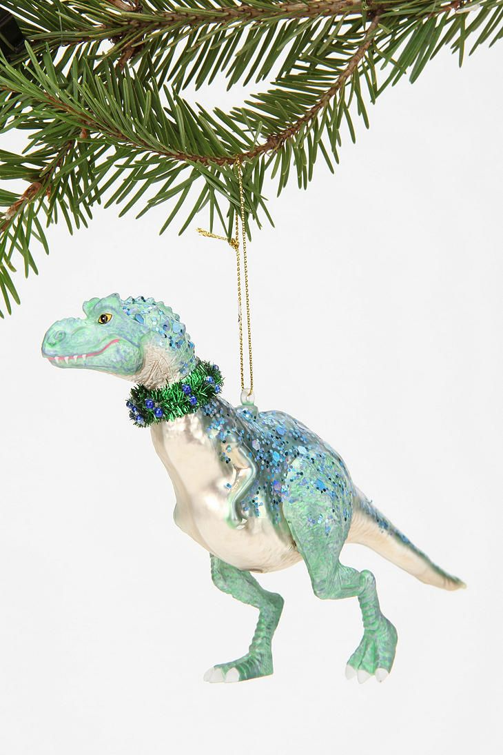 Dinosaur christmas ornaments - Dinosaur Ornament Xmas Craft Glitter Paint And Tinsel Pipe Cleaners