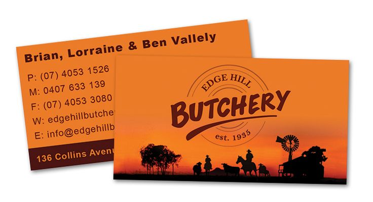 Edge Hill Butchery | Business Card Design