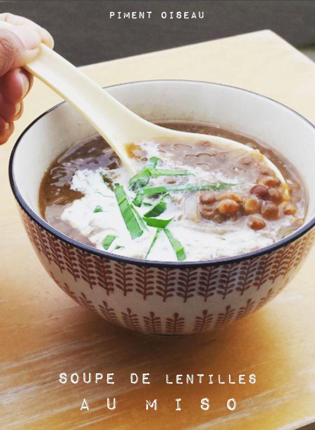 Soupe de lentilles au miso