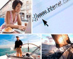 Apensar www.internet. Chica en terraza con ordenador. Señor llevando barco. Velero navegando.Aquí tienes la solución que buscabas. ¡Que disfrutes!