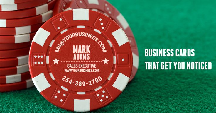 Custom Poker Chips as business cards are the perfect way to stand out. Design your personalized poker Chips @ CustomMadeCasino.com and take your business to the next level! # custompokerchips #poker #pokernight #business #entrepreneurship #marketing #success #custommadecasino