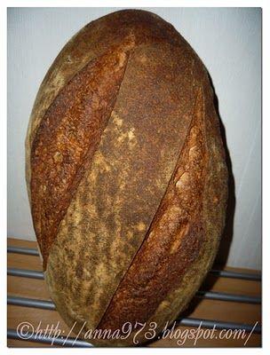 Франзузкий хлеб с обойной мукой -Pain au Levain with Whole-Wheat Flour
