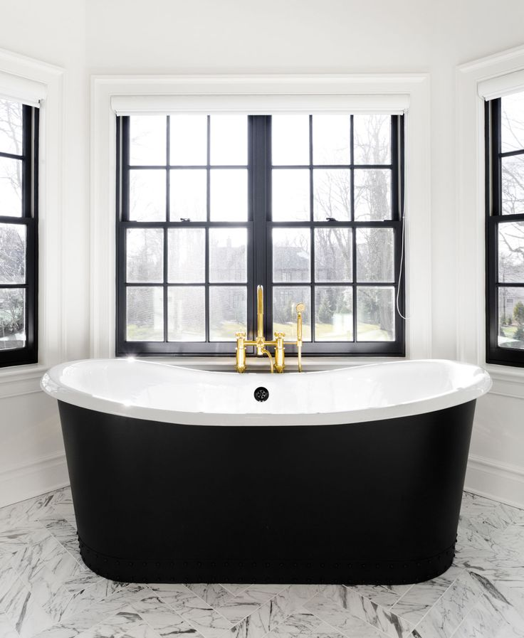 Paint windows black for an unfussy yet polished look.