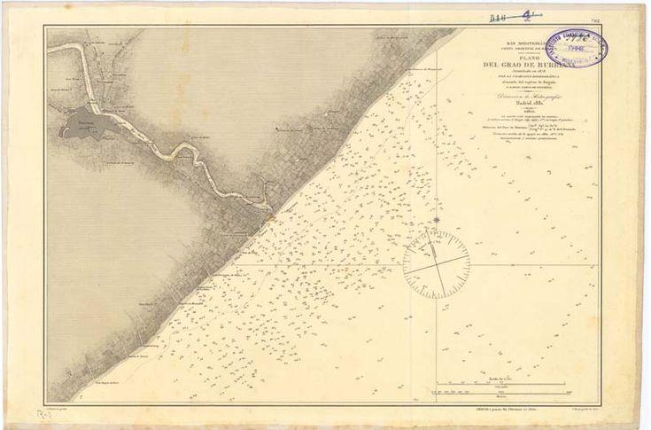 Burriana (Castellón). Cartas náuticas. 1881