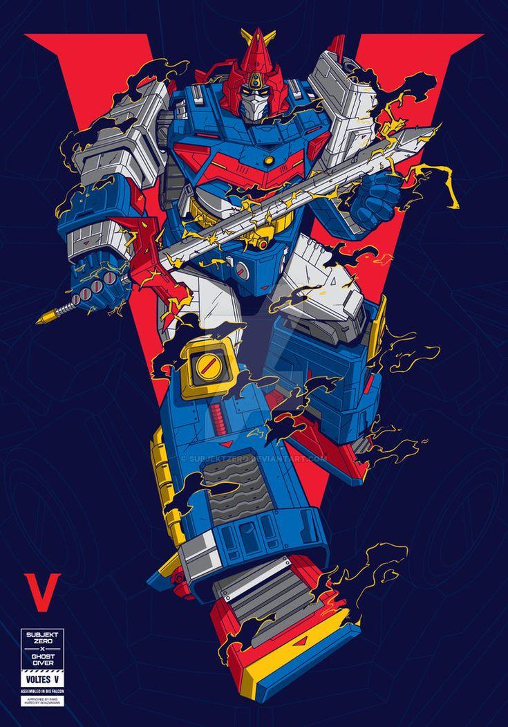 Voltes V Cartoon Characters : Best voltes v images on pinterest super robot