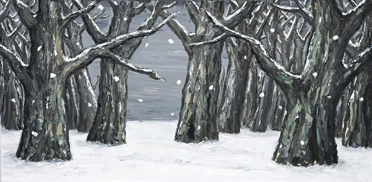 Peter Booth - Painting (Snow Scene - Group of Trees), 2006  oil on canvas