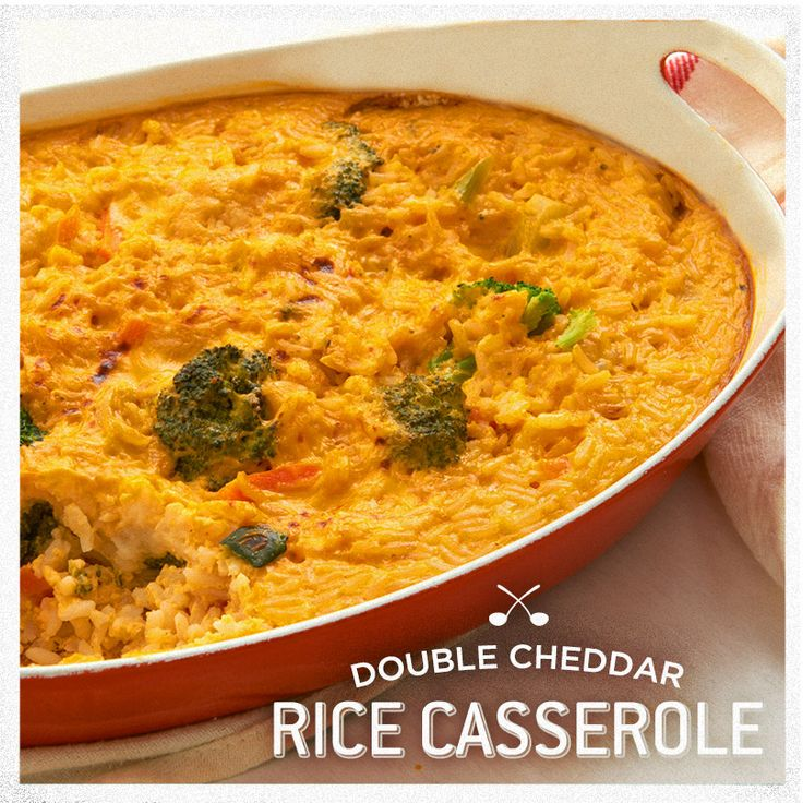 Is that Mac & Cheese? NOPE! It's our Double Cheddar Rice Casserole and it's going FAST. So easy and such a nice side dish for warm or cool weather. Plus, you can load it up with broccoli!