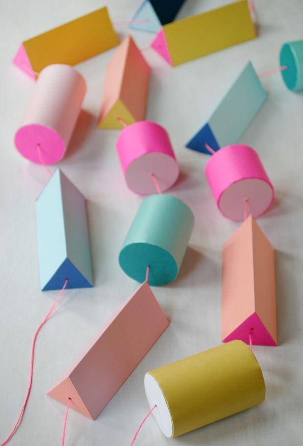 Make a giant paper bead garland. #DIY