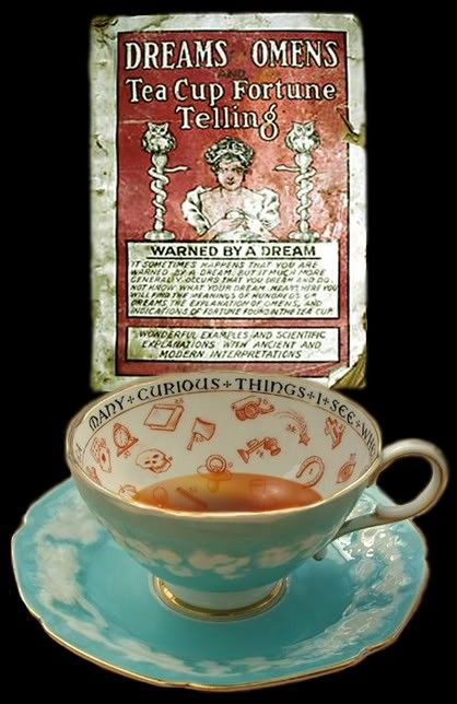 Fortune Teller's Teacup. [Interesting novelty item, and I like the vintage imagery]