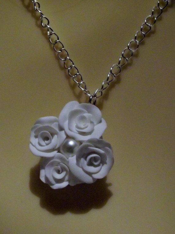 Rose Necklace Made To Order Flower by fabtasticflowers on Etsy