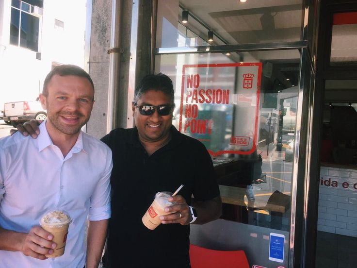 Old #friends meeting up. Milkshakes this time but made with #passion #Vida e Caffè