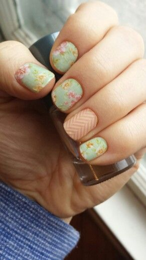 vintage chic with just peachy jamberry diy nailart www