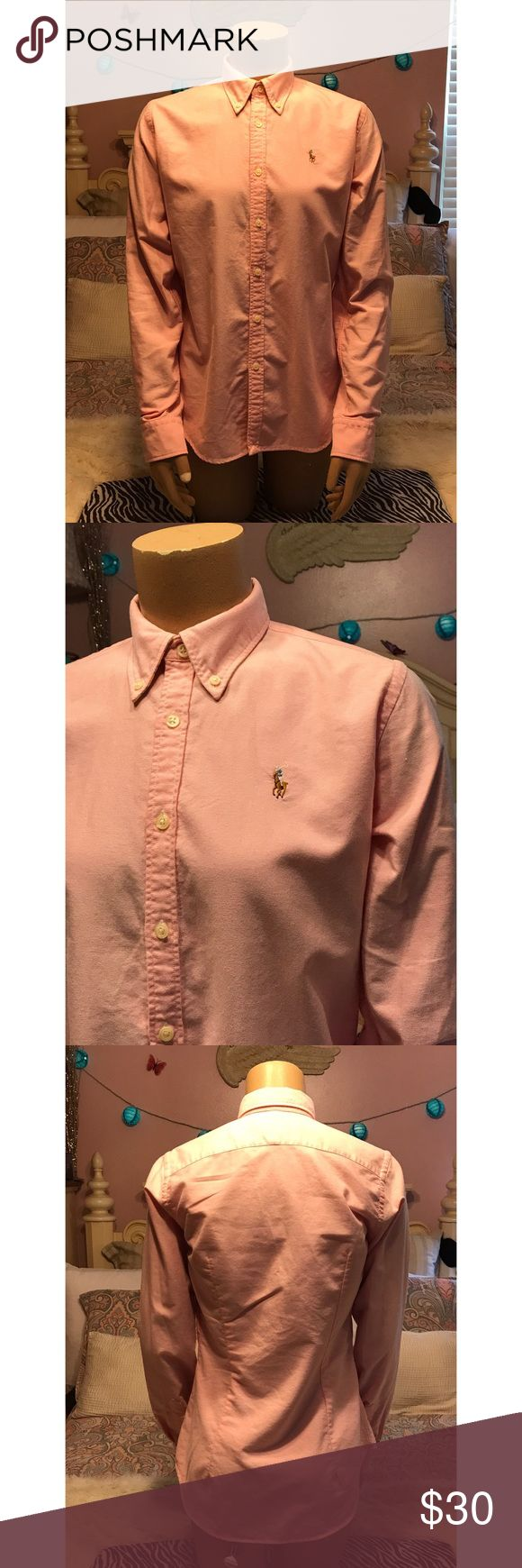 Ralph Lauren Slim Fit Pink Button Down Slim fit pink button down...never been worn 😌 Ralph Lauren Tops Button Down Shirts