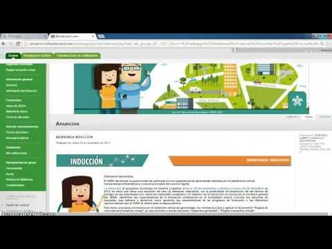 Navegación en Plataforma Blackboard formación virtual SENA - YouTube