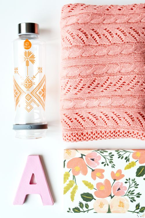 Lavivavera for EQUA bottle in peach #waterbottle #fashion #accessoire #healthy