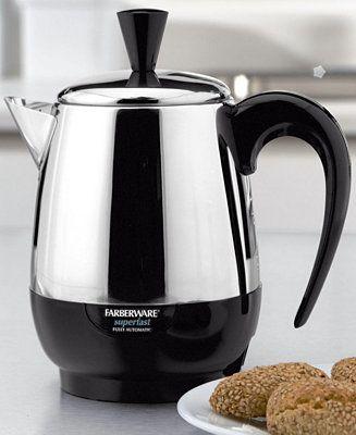 Farberware FCP240 Percolator, 2-4 Cup - Coffee, Tea & Espresso - Kitchen - Macy's
