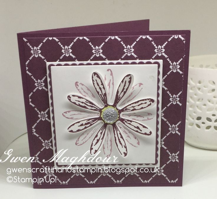 Fresh Florals with Daisy Notelets. gwenscraftinandstampin