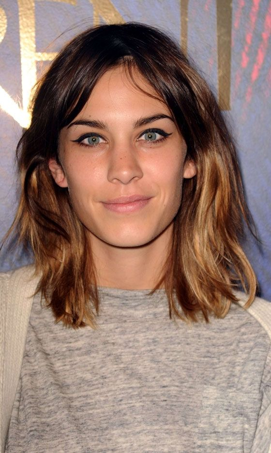 Alexa Chung With Dip Dye Hair 2010