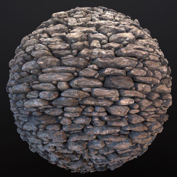 Tiling Stone Wall Texture, Taylor Kirkham on ArtStation at https://www.artstation.com/artwork/RqlJy
