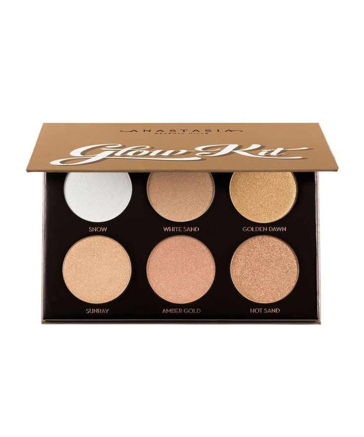 Glow Kit - Ultimate Glow by Anastasia Beverly Hills  Join the waiting list for this AMAZING contour and highlight powder palette. Apply with brush or make-up sponge, can be applied damp for extra effect. A great mixture of bronze, gold and shimmer. #affliliate