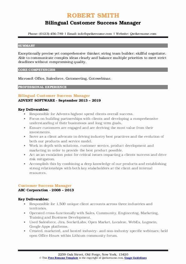 Customer Success Manager Resume Unique Customer Success Manager Resume Samples Nurse Job Description Job Description Resume