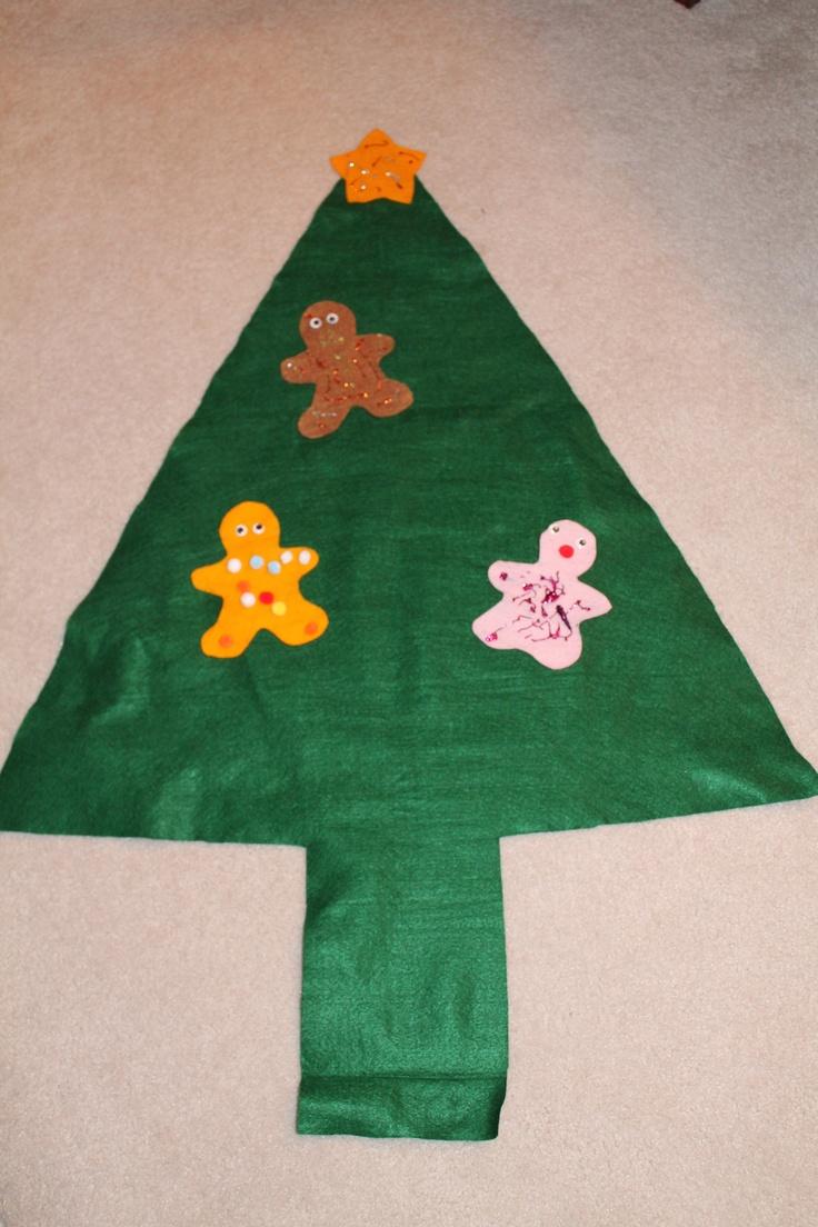 Construction christmas ornaments - Felt Christmas Tree