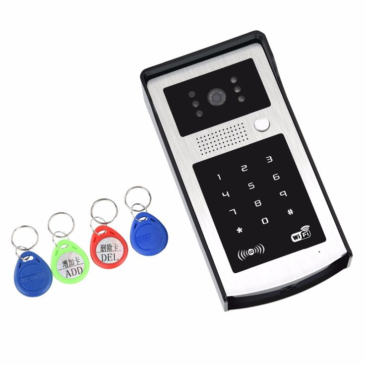 APP Remote Control WIFI Doorbell Password ID Card Wireless Video Door Phone  #Affiliate