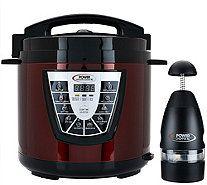 Power Pressure Cooker XL Digital 8 qt. Pressure Cooker w/ Dual Racks - K43483
