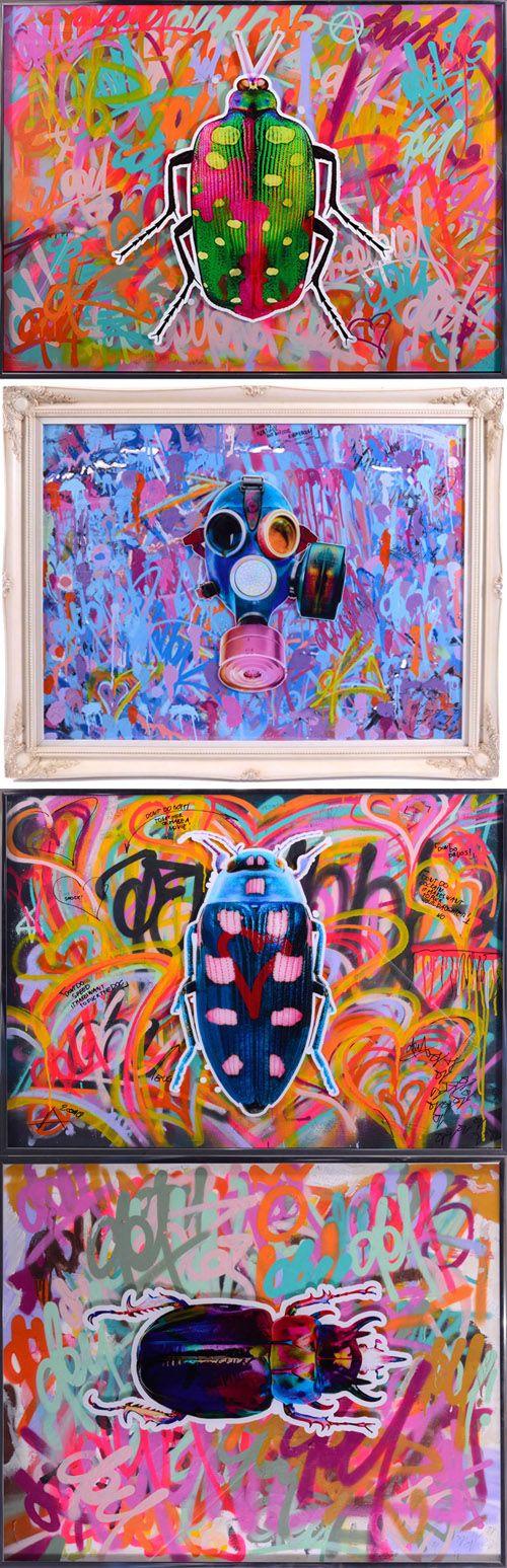 Bug artwork, gas mask artwork. Dominic Vonbern www.dominicvonbern.com