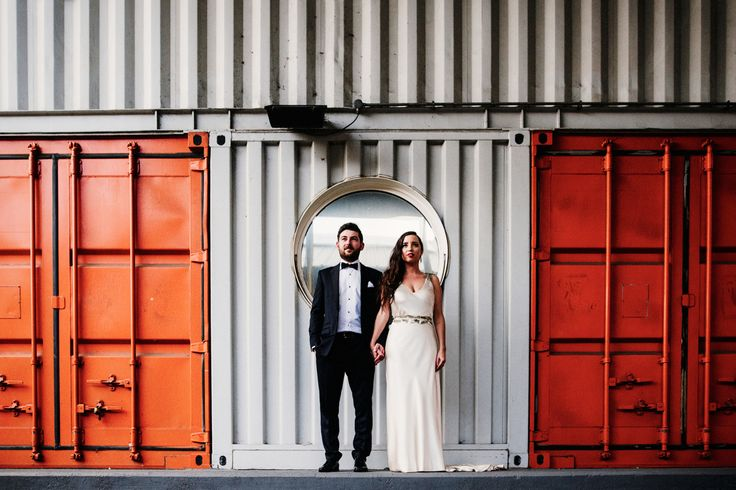 Babb Photo's best of 2015 is on the blog. Check out the best of my creative documentary, alternative and editorial wedding photography, including this colourful, architectural inspired urban couples portrait in front of shipping containers at Trinity Buoy Wharf London.