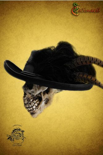 Caraiba leather hat - LARP hat - This hat will make your character stylish and famous, whatever the course of his actions. It's perfect for pirates, of course, but it's also great for swashbucklers, noblemen and merchants who wish to be remembered.