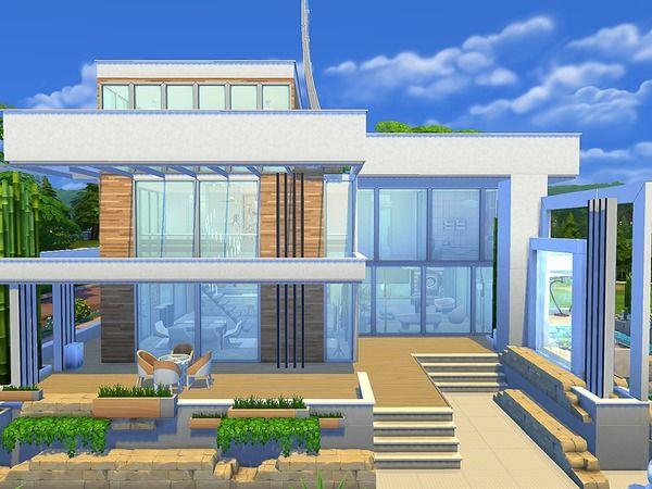 Sims House S Modern Eco House Sims House Sims House Plans Sims 4 House Design