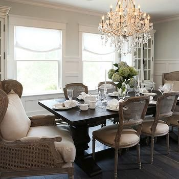 Bluestone and Cast Iron Pedestal Rectangular Dining Table - Transitional - Dining Room - Sophie Metz Design