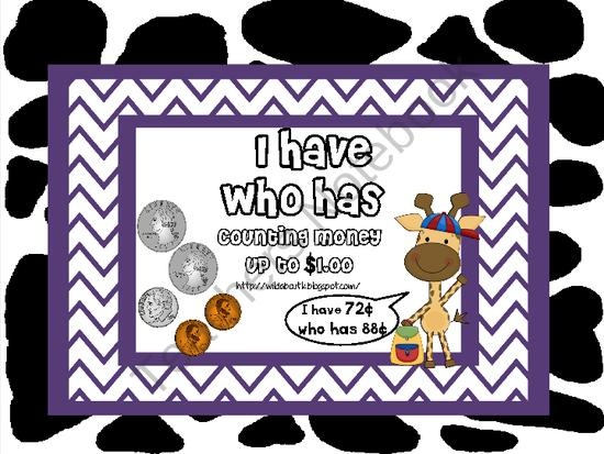 I Have Who Has- Counting Money up to $1.00 from Wild about Teaching on TeachersNotebook.com (15 pages)  - I Have Who Has.... Counting Money Game!  Perfect for counting money up to $1.00.
