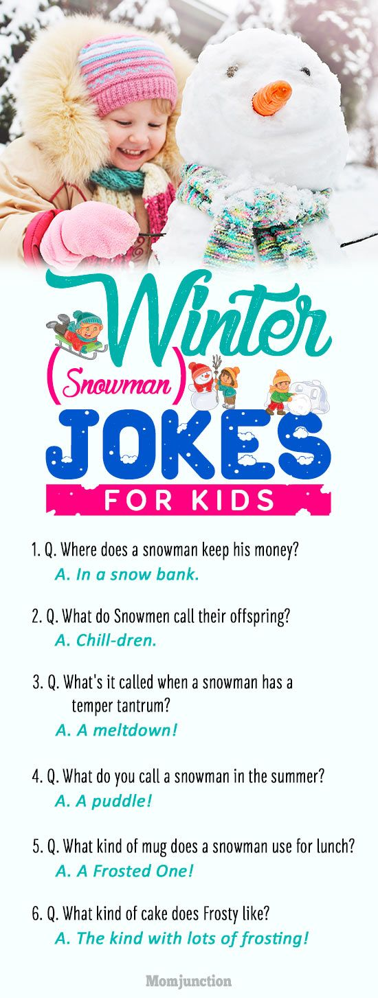 25 Funny #Winter (Snowman) Jokes For #Kids : Are you in search of funny winter jokes for kids? Yes, then spread some Christmas laughter and cheer with these hilarious snowman jokes. Here are the classics