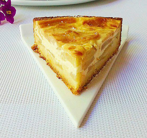 Tarta de manzanas con nata - Recetízate