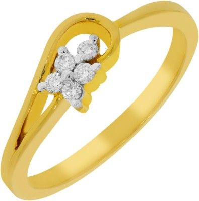 Kalyan Jewellers Less Weight Gold Diamond 18K Yellow Gold 18 K Ring Price in India - Buy Kalyan Jewellers Less Weight Gold Diamond 18K Yellow Gold 18 K Ring Online at Best Prices in India |  Gold jewellery online shopping kalyan jewellers