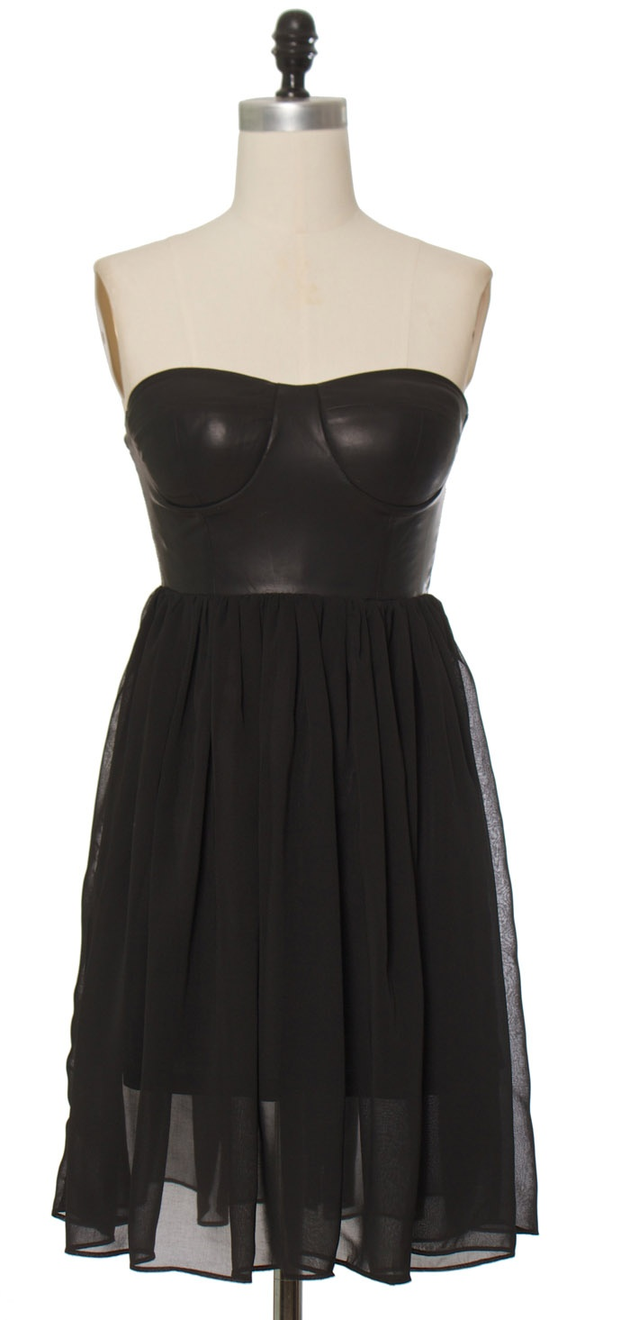 Trendy & Cute Clothing - Gracia - Bombshell Black Bustier Dress - chloelovescharlie.com   $75.00