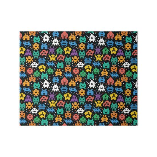 Pixelated Emoji Monster Pattern Illustration by Gordon White | Emoji Monster Gallery Board Available in 3 Sizes @redbubble --------------------------- #redbubble #emoji #emoticon #smiley #faces #cute #addorable #pattern #frame #print #gallery #galleryboard #wallart