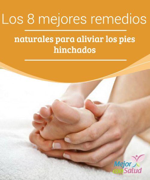 Los 8 mejores remedios naturales para aliviar los pies hinchados  Un acto tan sencillo como poner los pies en remojo con un poco de sal nos puede ayudar a desinflamarlos y proporcionarnos sensación de alivio